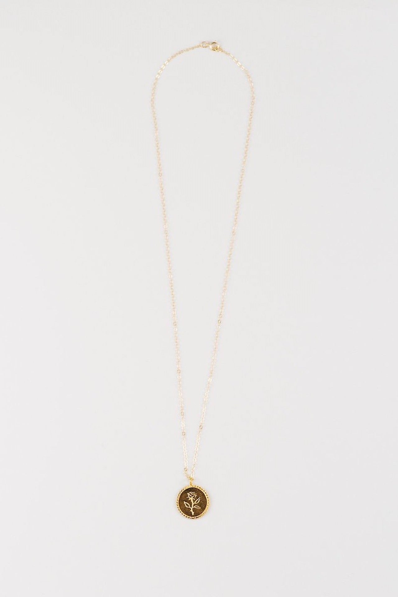 ROSECOIN Pendant and Chain- Gold