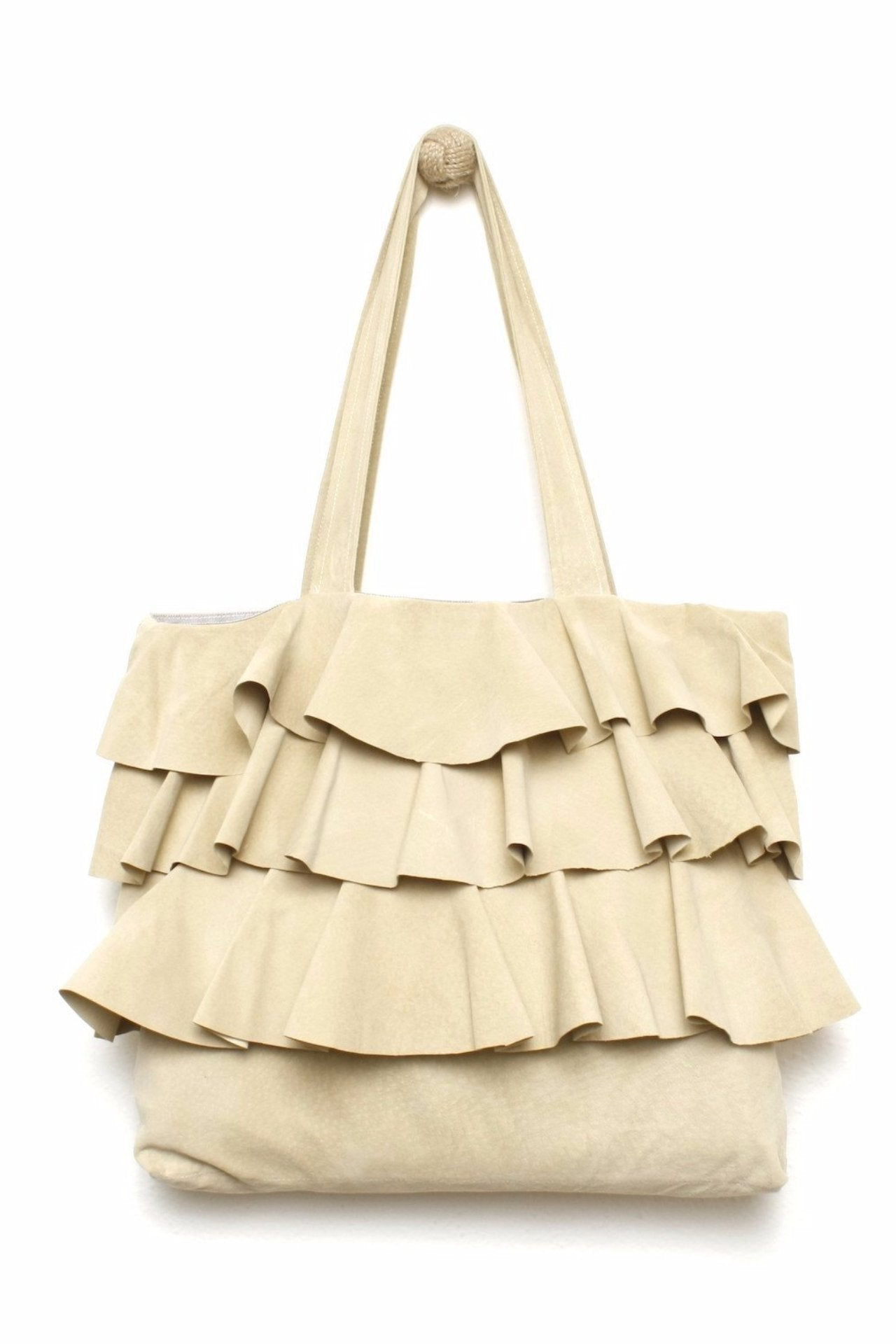 RUFFLE Suede Tote