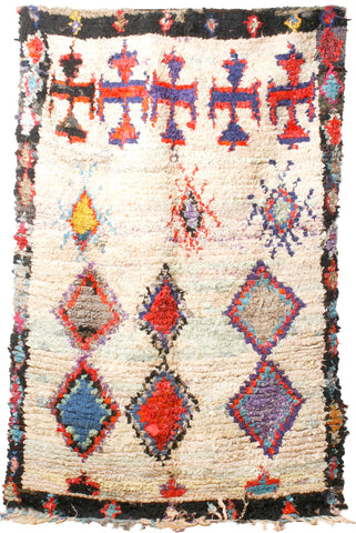 Beni Ourain Colorful Wool Rug 6.58x4.91