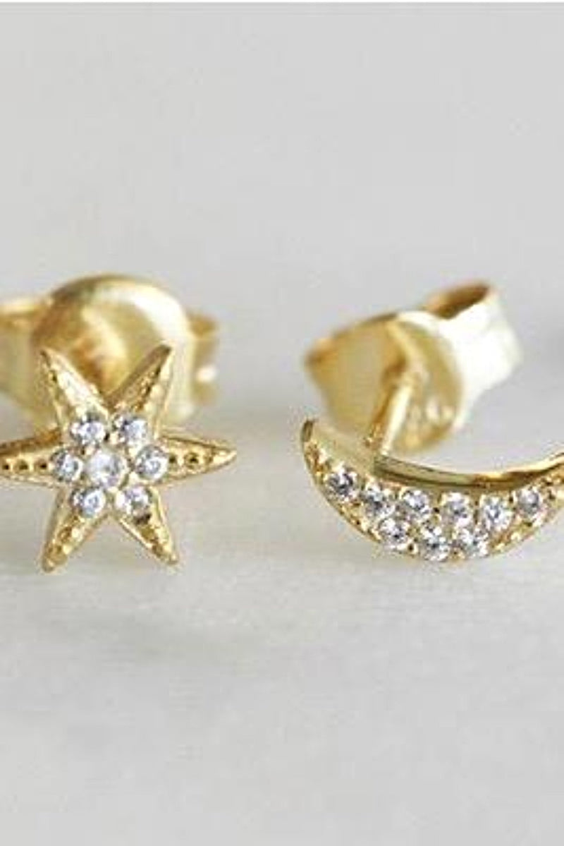 Star/Moon Stud Earrings