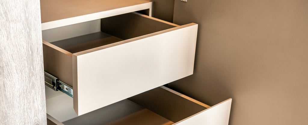 Coloured Cabinetry Interiors image