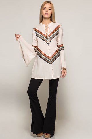 Boho Chevron Top