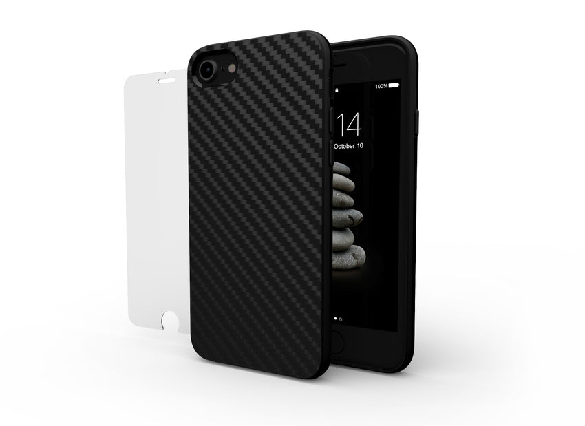 CARBON and GLASS for iPhone 8/SE