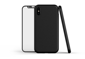 LEATHER and GLASS for iPhone X and Xs