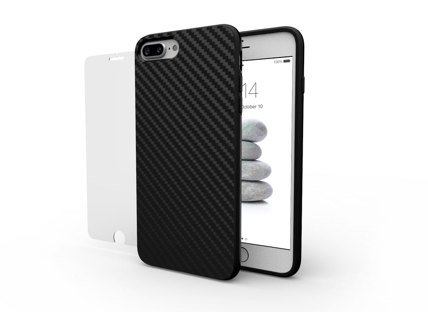 CARBON and GLASS for iPhone 8 Plus