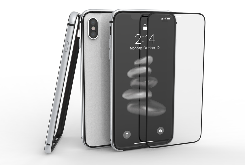 METAL BUMPER and GLASS for iPhone Xs Max