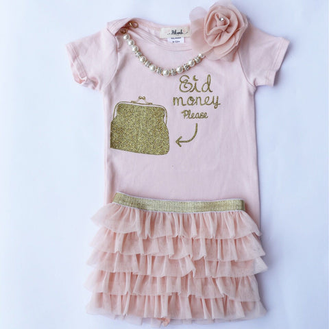 Eid Money Please Onesie + Tutu - Baby (3 - 24 months) - Hilwah