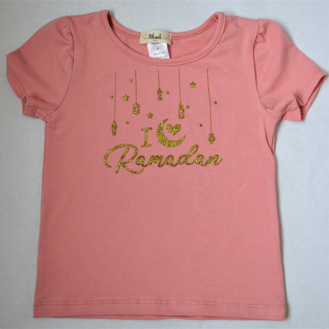 """I love Ramadan"" Girl T-shirt - Hilwah"