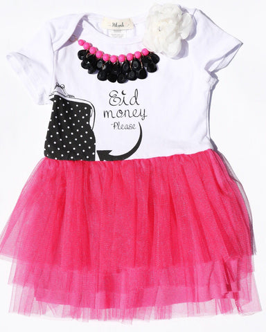 Eid Money Please Tulle Dress - Toddler - Hilwah