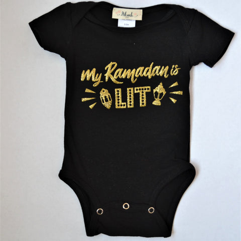"""MY Ramadan is LIT"" Onesie or Set - Hilwah"