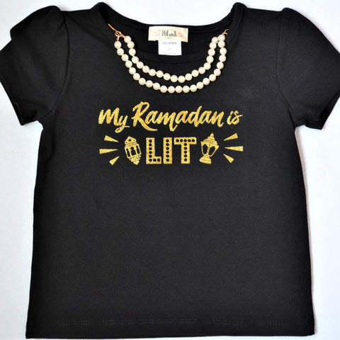 """MY Ramadan is LIT"" T-shirt or set - Hilwah"