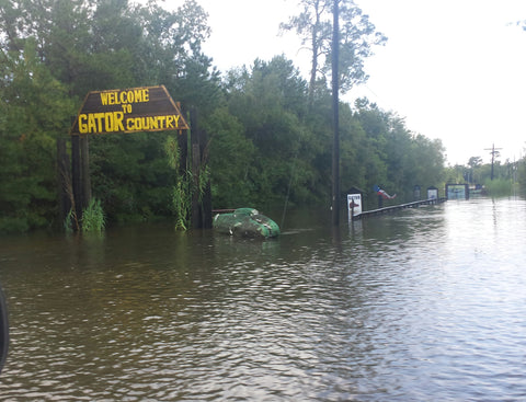 Gator Country road completely under water.