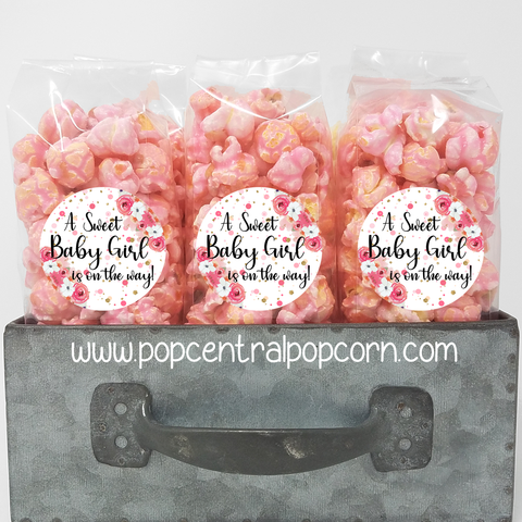 Baby shower Popcorn bags