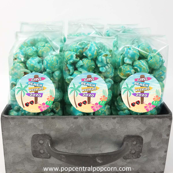 Beach Theme Personalized Popcorn Favor Bags