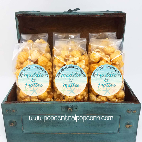 Destination - Beach Wedding Popcorn Party Favors