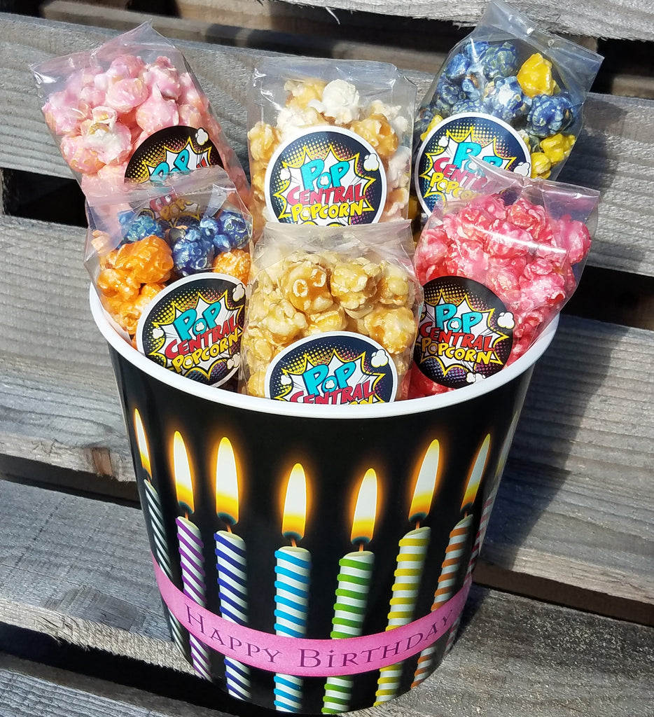 Birthday Bucket with 6 Favor Size Bags