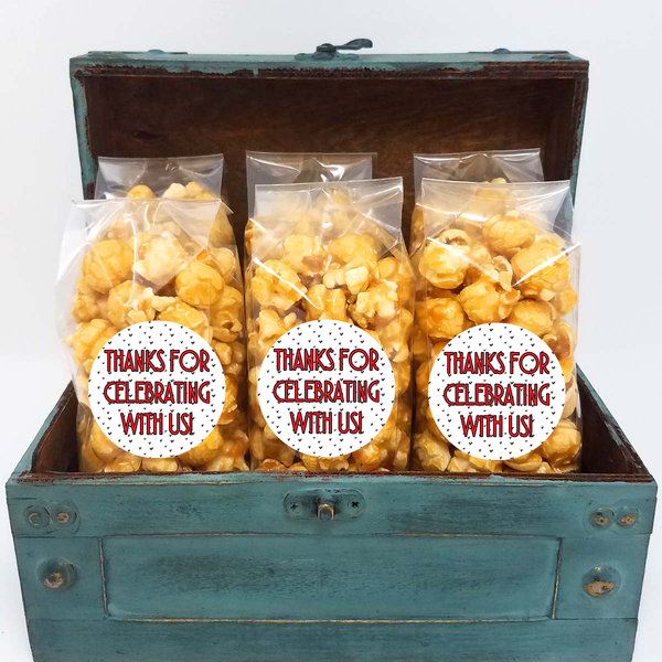 Personalized Popcorn Party Favors