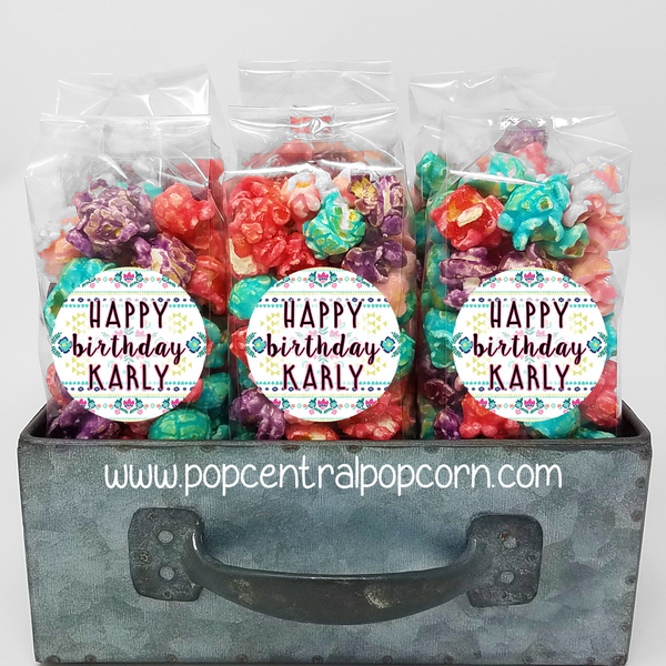 Boho Birthday - Popcorn Party Favors