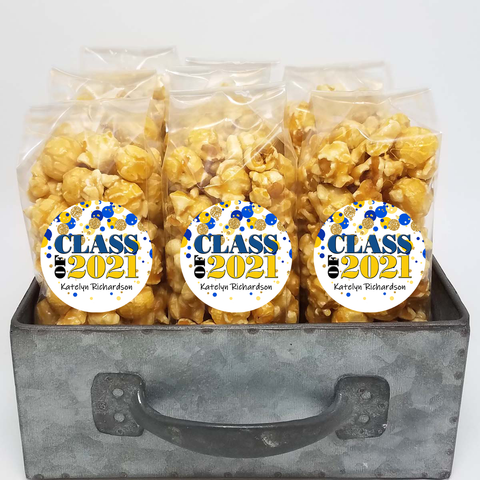 "Blue and Gold Class of 2021 ""Bubbles"" Party Favor Bags"