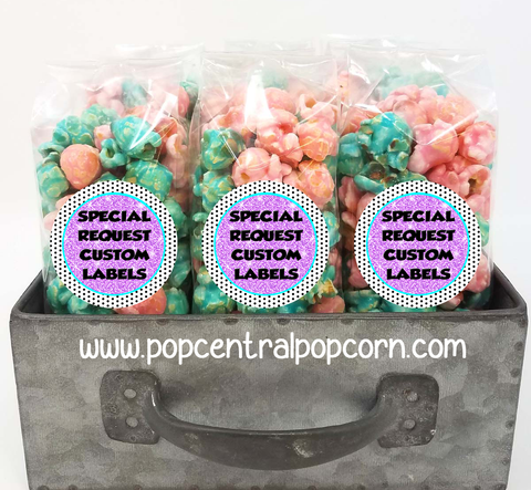Custom Designed - Popcorn Party Favor Bags