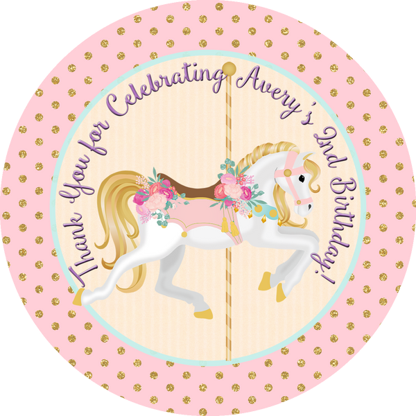 Carousel Horse Birthday - Popcorn Party Favors