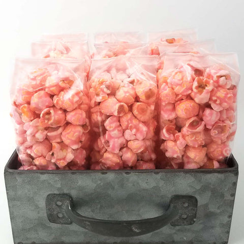 Pink Cotton Candy Popcorn Favors