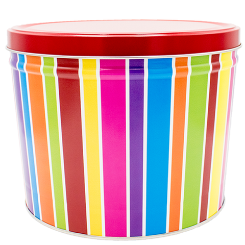 2 Gallon - Everyday Fun Stripes Tin