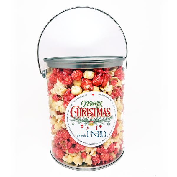 1 Gallon Popcorn Cans with Custom Logo Labels