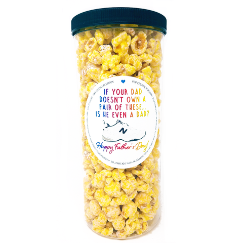 Father's Day Popcorn Tube - Dad Shoes