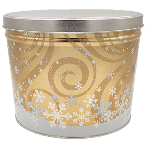 2 Gallon - Golden Snowflakes Tin