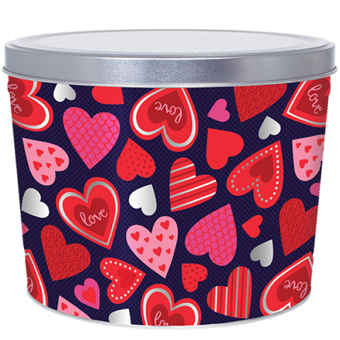 2 Gallon - Valentine Hearts Tin