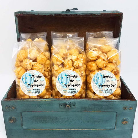 Hot Air Balloon - Blue and Yellow - Popcorn Favors