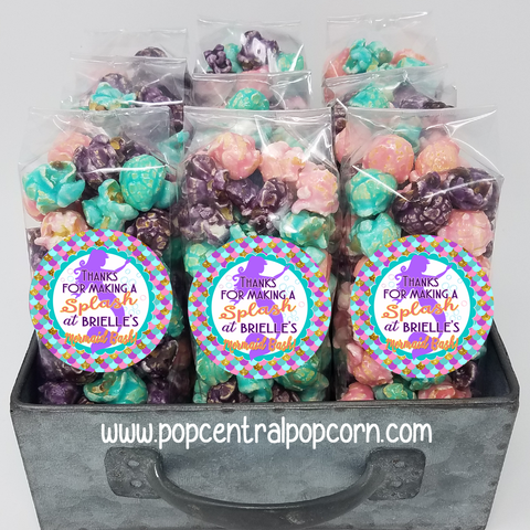 """Mermaid Splash"" Popcorn Party Favors"