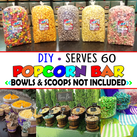 Popcorn Bar - DIY- Serves 60