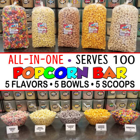 Popcorn Bar- All in One- Serves 100