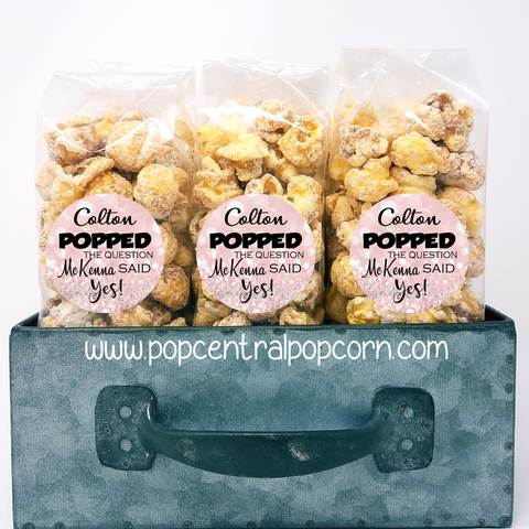 POPPED the Question - Wedding Popcorn Favors