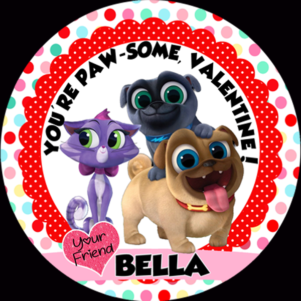 Valentine DIY Popcorn Set - Puppy Dog Pals