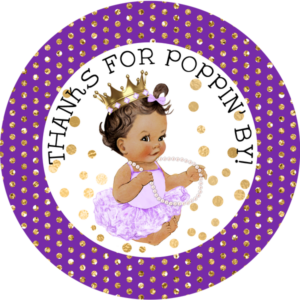 Purple and Gold - Baby Girl - Baby Shower Favors
