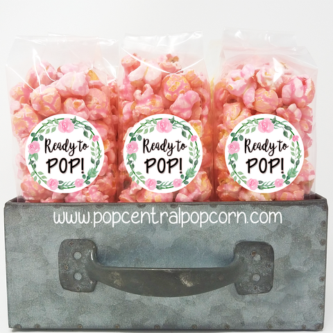 Floral Wreath - Baby Shower - Popcorn Party Favors
