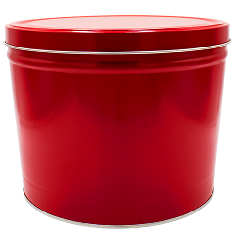 2 Gallon - Solid Red Tin