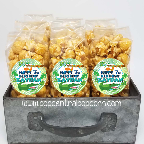 Reptile - Alligator - Jungle Popcorn Party Favors