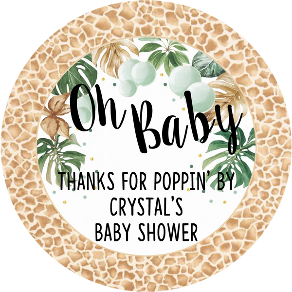 Jungle Safari - Oh Baby - Popcorn Baby Shower Favors