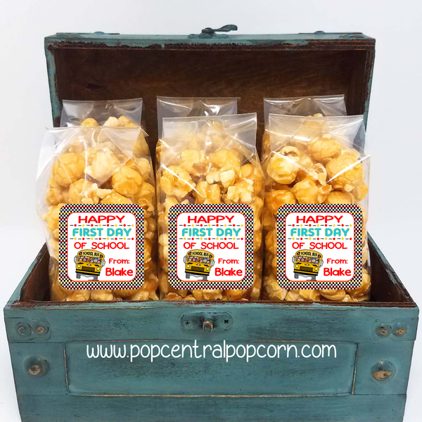 First Day of School - School Bus popcorn bags