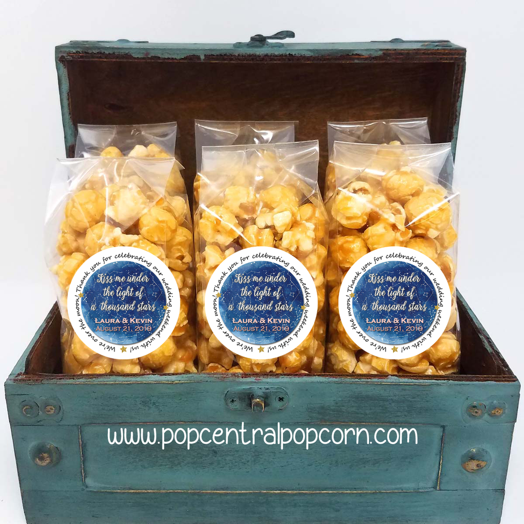 Starry Night - Whimsical Wedding Popcorn Favors