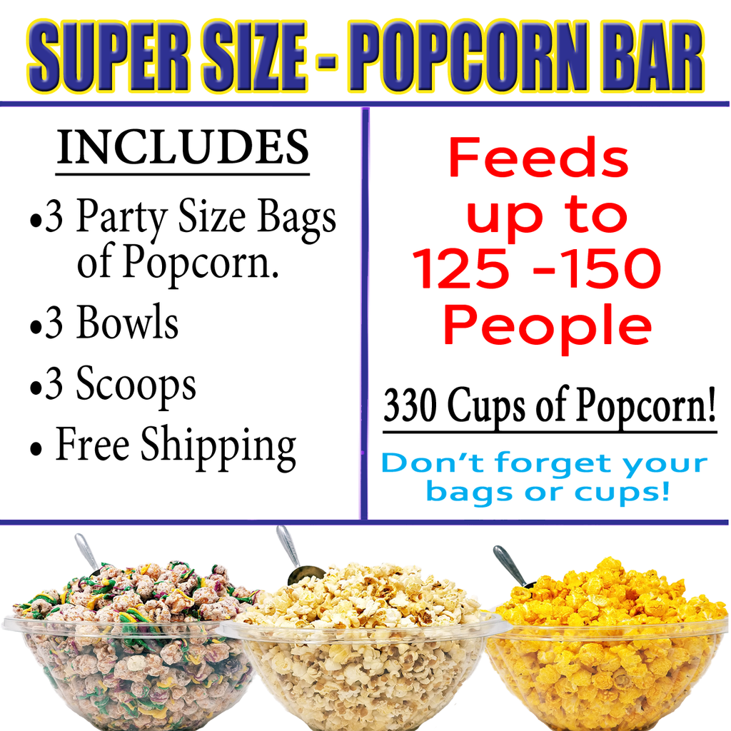 Super Size Popcorn Bar