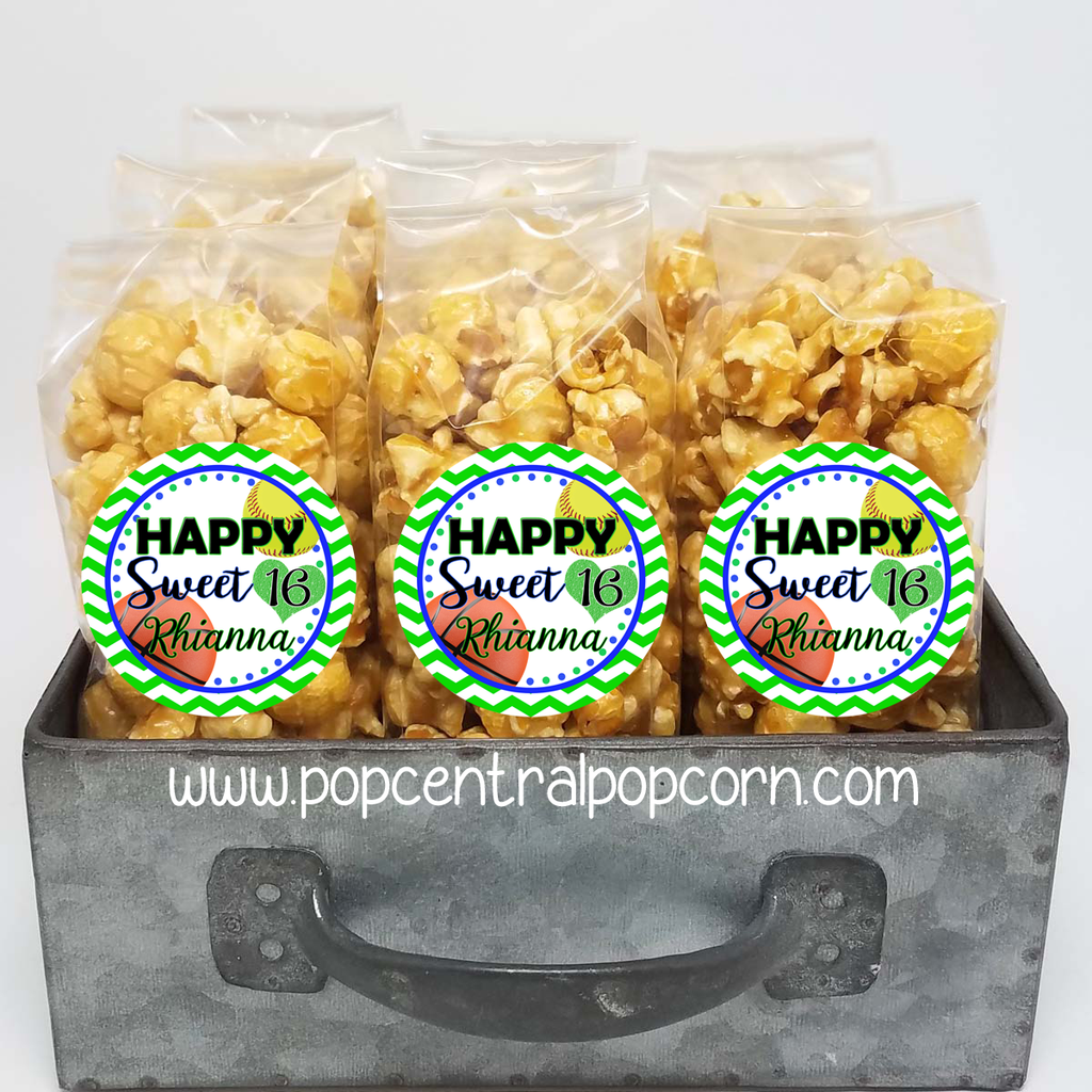Sweet 16 Sports Theme - Popcorn Party Favors