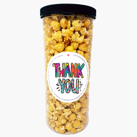 Thank You - Bright colors - Popcorn Tube