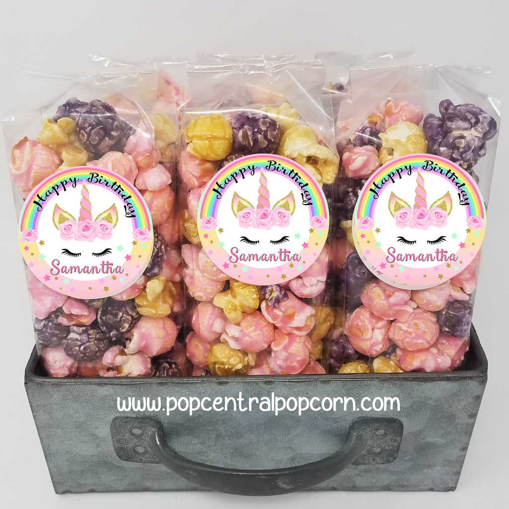 Magical Rainbow and Roses - Popcorn Party Favor Bags
