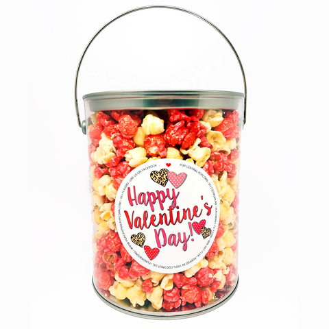 1 Gallon - Happy Valentine's Day - Popcorn Can