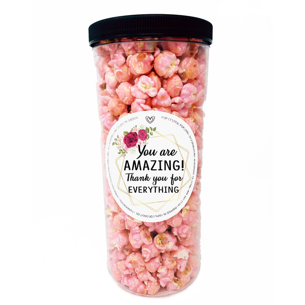 You are AMAZING - Thank You - Popcorn Tube